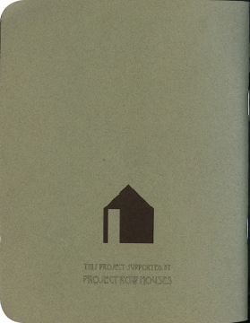FieldWorks Field Guide, 2004, Project Row Houses, Karen Atkinson, Nancy Ganecheau, Jane Jenny. Back Cover.
