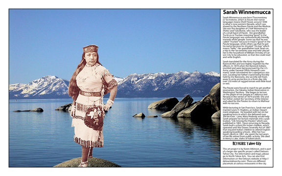 Sarah Winnemucca from Women of Tough Terrain from Detours: Tahoe City by Karen Atkinson