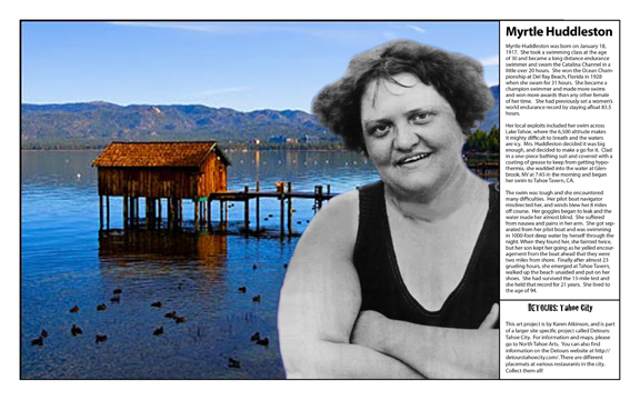 Myrtle Huddleston from Women in Tough Terrain, Detours: Tahoe City by Karen Atkinson