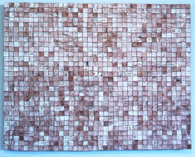 "Ceramic Wall Hanging, Karen Atkinson, 3'x 4' x 2"""