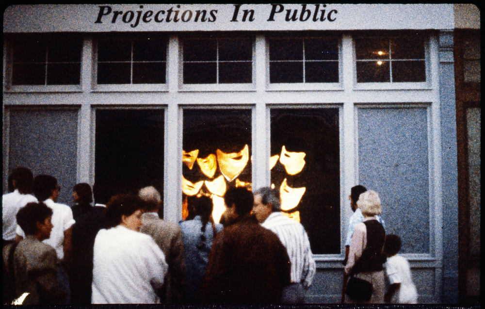 Projections in Public: Cleveland, curated by Karen Atkinson, image by Connie Hatch