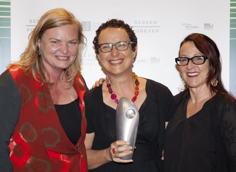 L - R: Fiona Eagger, Lois Randall and Deb Cox at awards presentation