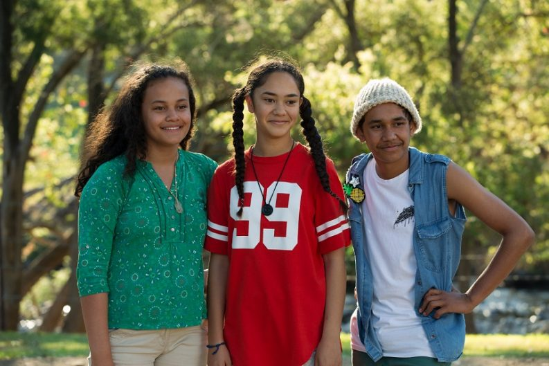 Kyliric Mastella, Mairehau Grace and Tjiirdm McGuire. Photos supplied by Magpie Pictures, Production Stills by Julian Panetta.