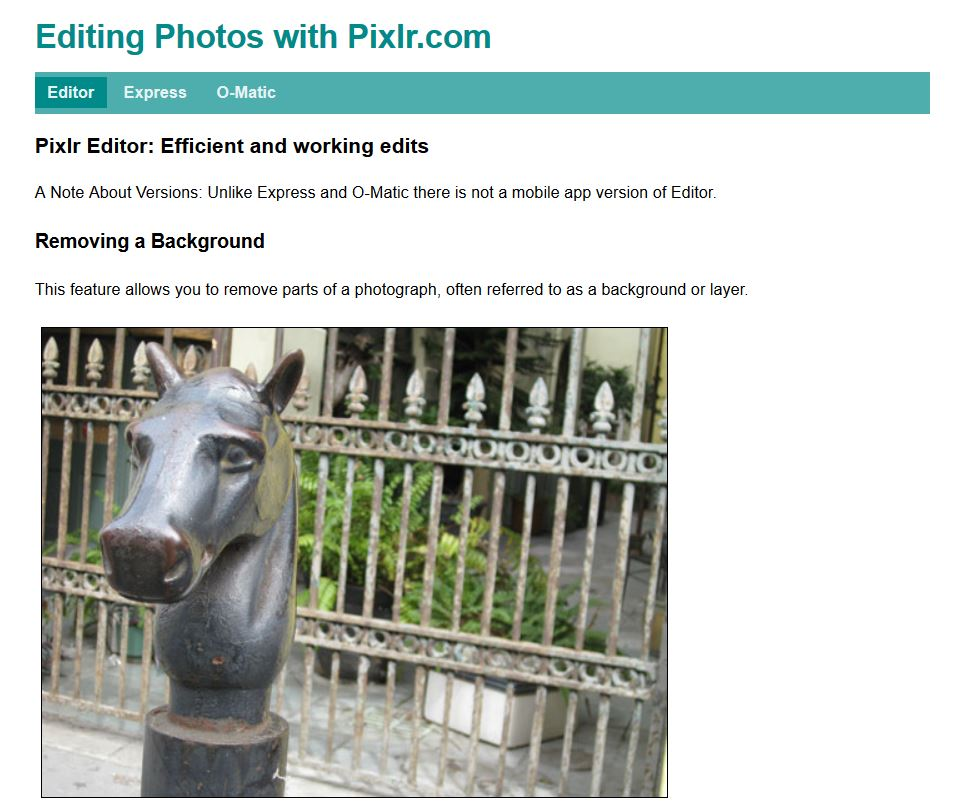 Editing Photos -- HTML and CSS