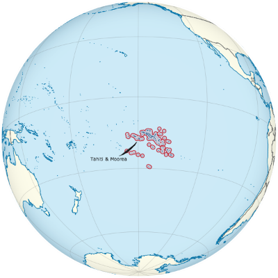 Source: TUBS. French Polynesia on the globe. Wikimedia Commons.