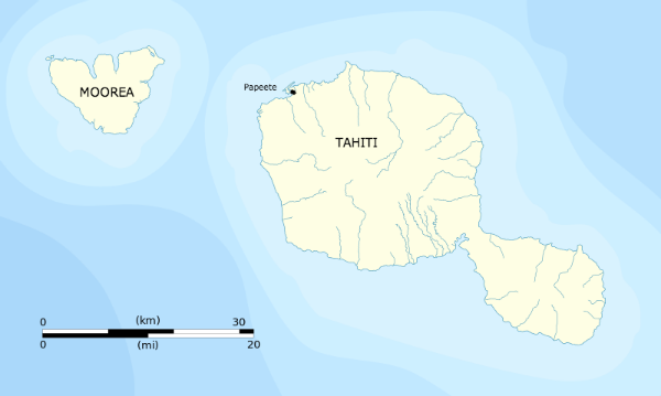 Source: Flappiefh. Tahiti and Moorea administrative map. Wikimedia Commons.