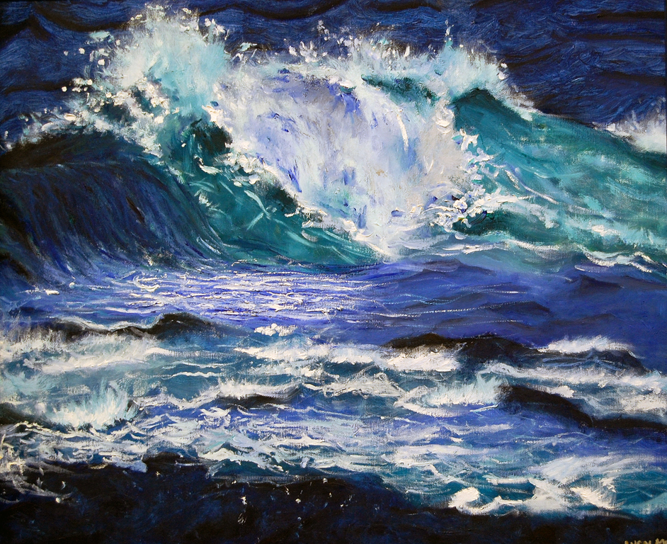 Wave  Oil, 16x20