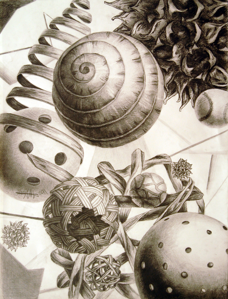 Kinetic Still Life  Graphite, 18x24