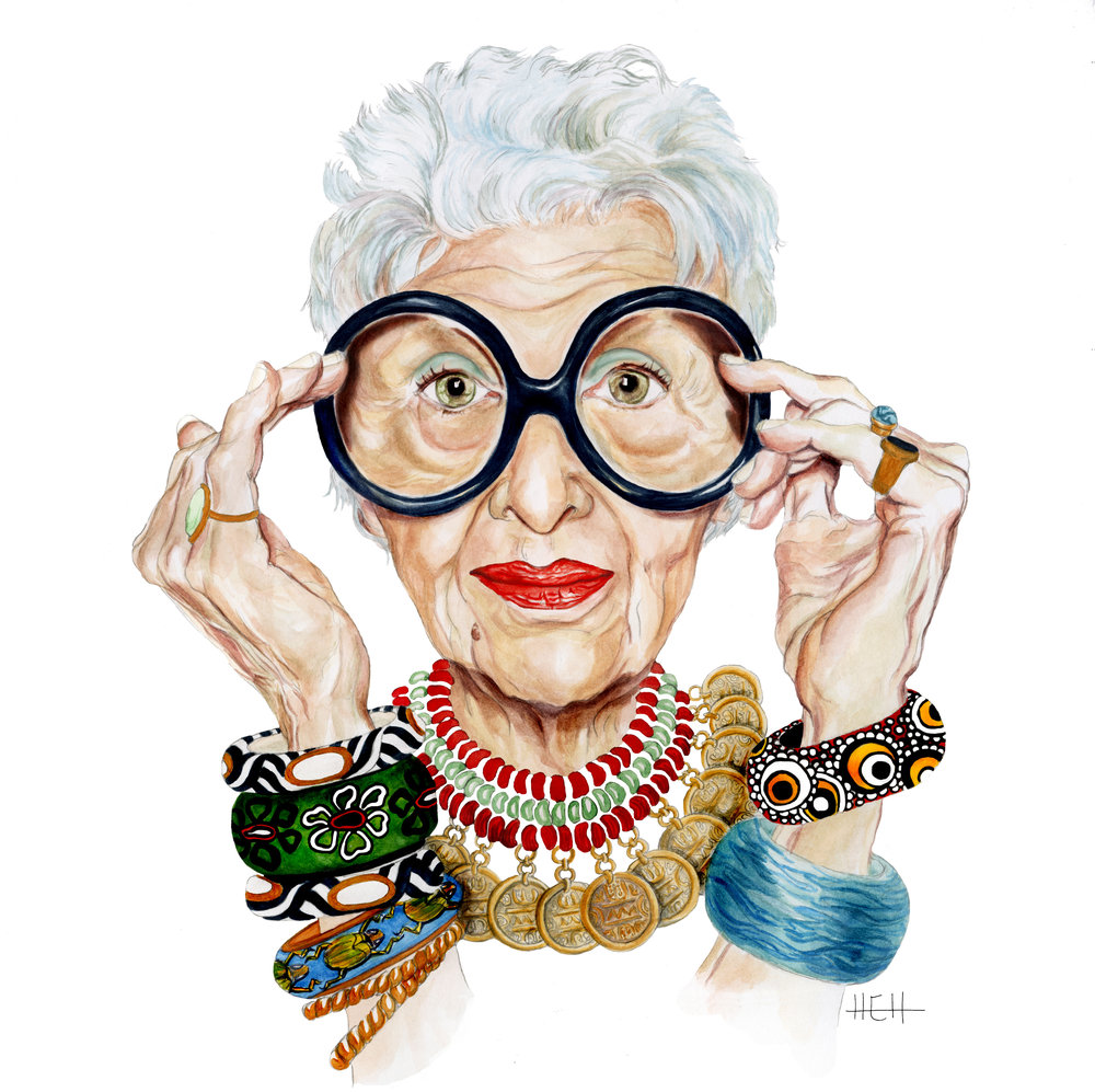 Iris Apfel by Hallie Heald © All rights reserved