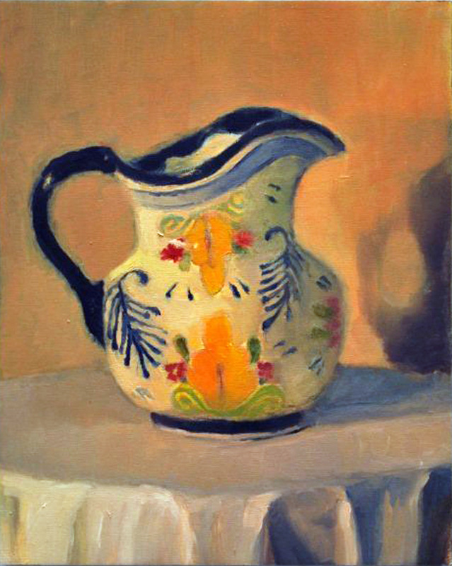 Morning light pitcher
