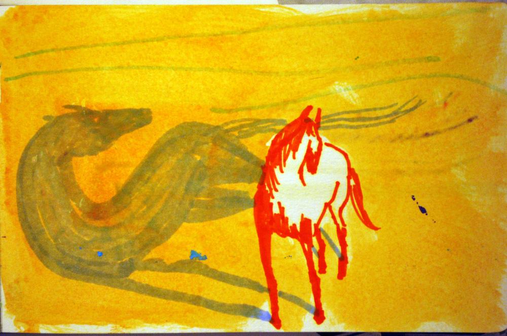 "2014/ 4"" x 7"" /Ink, gouache"