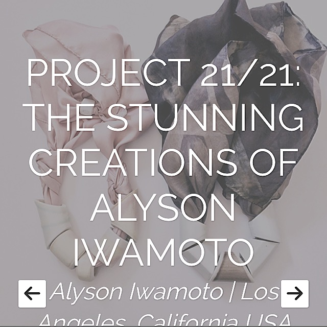 www.iamthelab.com featured an interview with me about my work, inspiration, dreams and future. They did a lovely job representing me and the spirit of my work.   http://www.iamthelab.com/baubles-handmade/project-2121-the-stunning-creations-of-alyson-iwamoto/