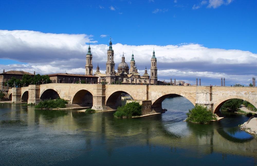 Basilica de neustra señora del pilar and puente de Pierre (castle thing, and bridge)