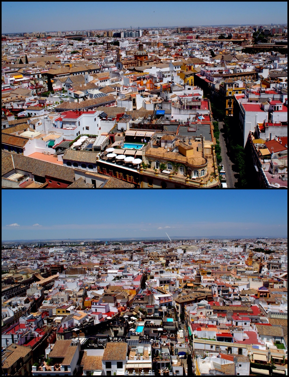 Some of the 360 degree views over Seville. Magical.