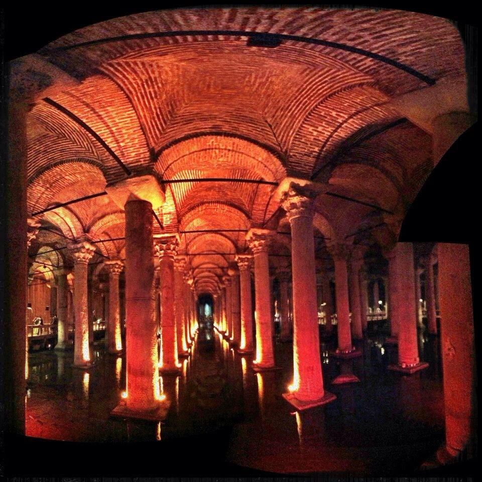 Basilica cistern. Istanbul, Turkey.