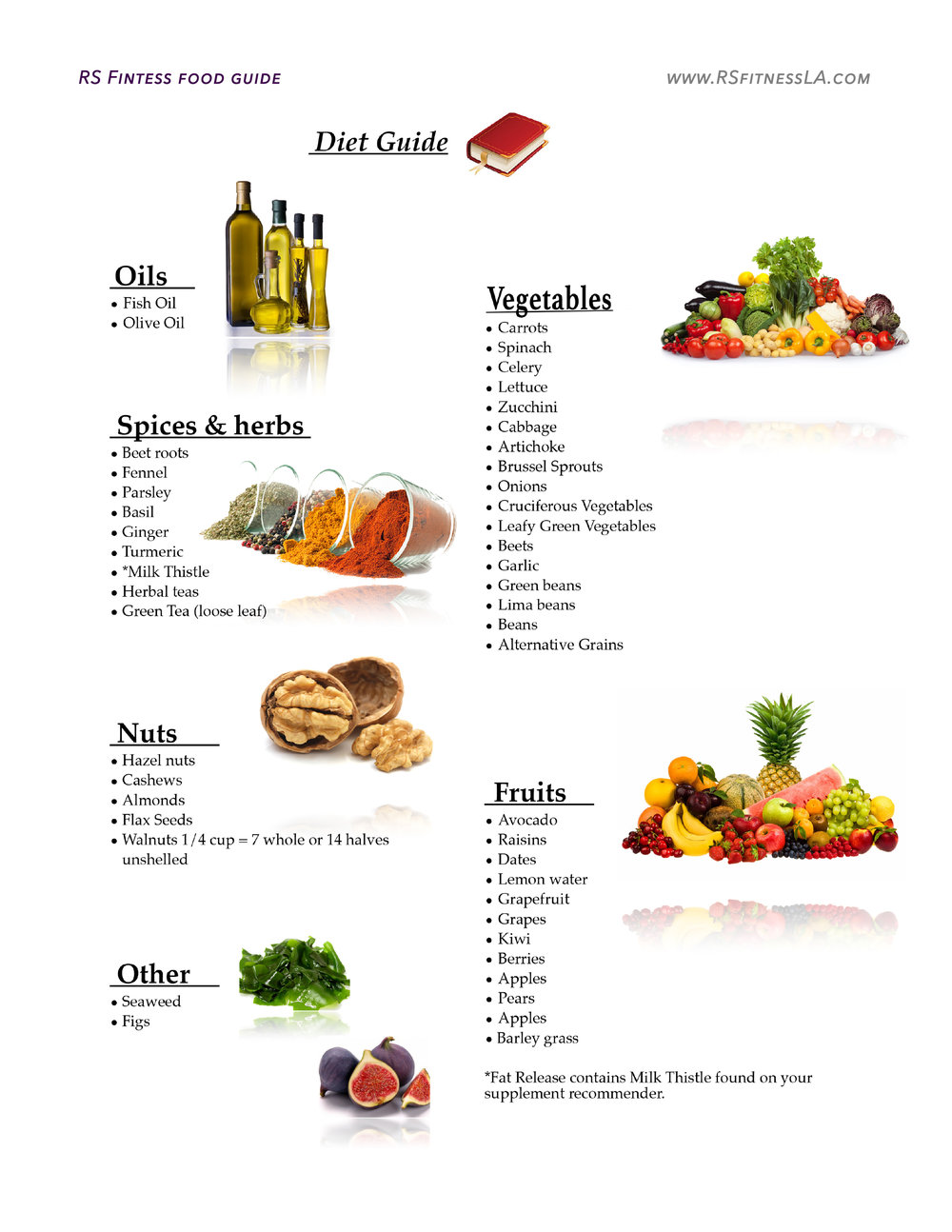rs fitness liver health foods
