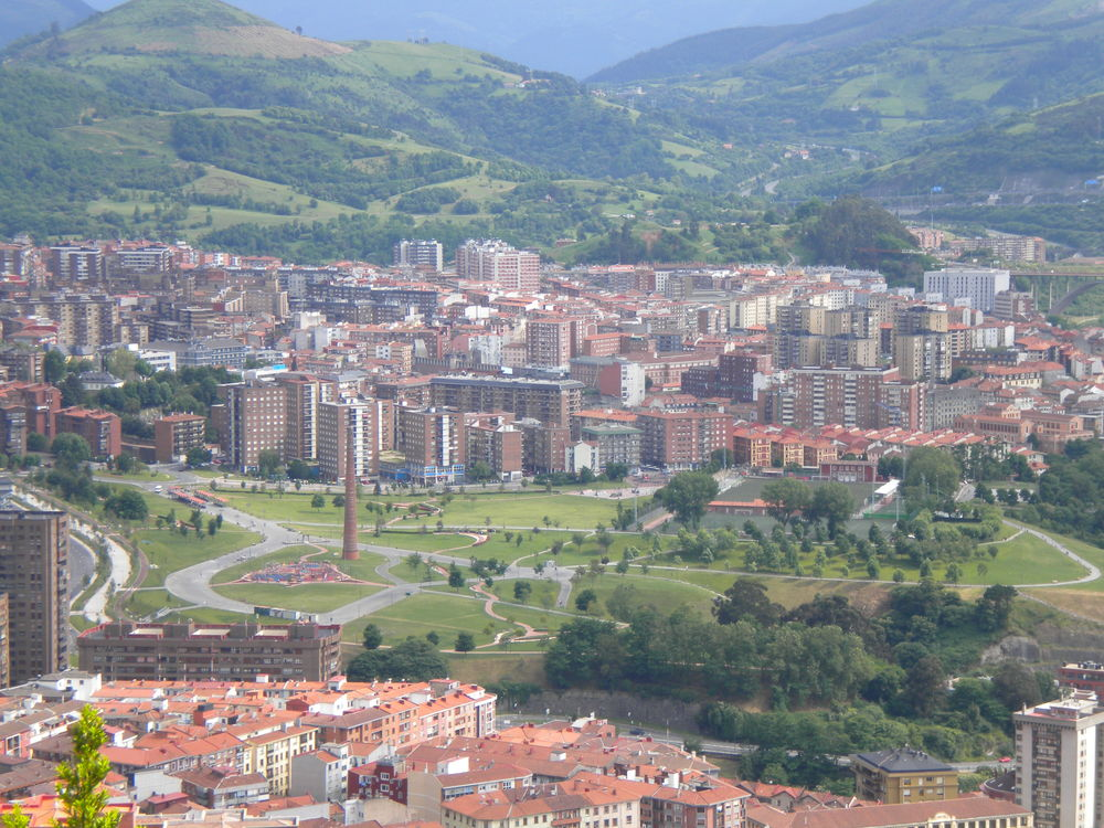 Bilbao, seen from atop Mount Artxanda