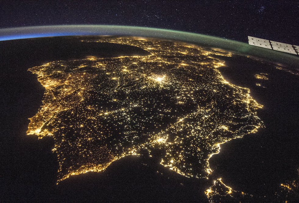 The Iberian Peninsula seen from the International Space Station