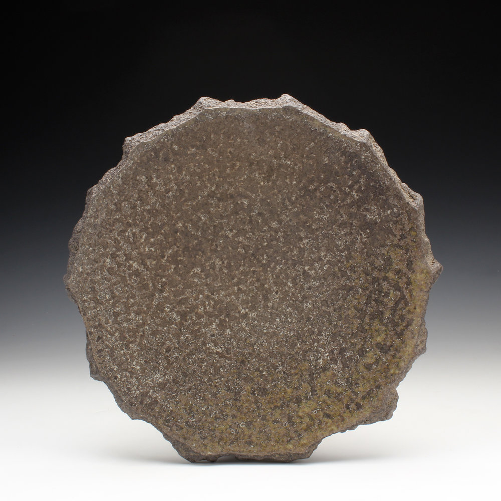 "Plate  1"" x 9"" x 9""  Wood fired stoneware  2016"