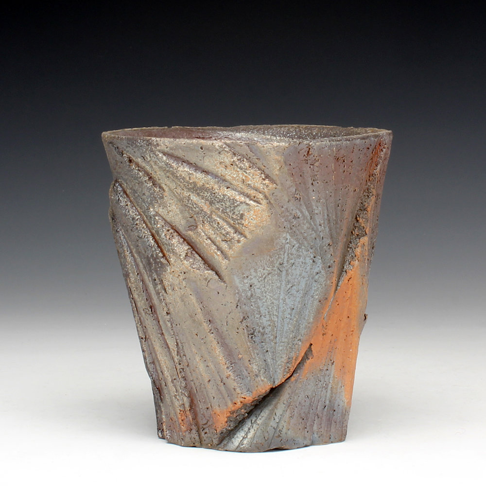 "Cup  5"" x 3"" x 3""  Wood fired stoneware  2016"