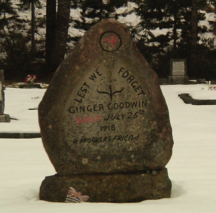 Goodwin's unique headstone at Cumberland Cemetery