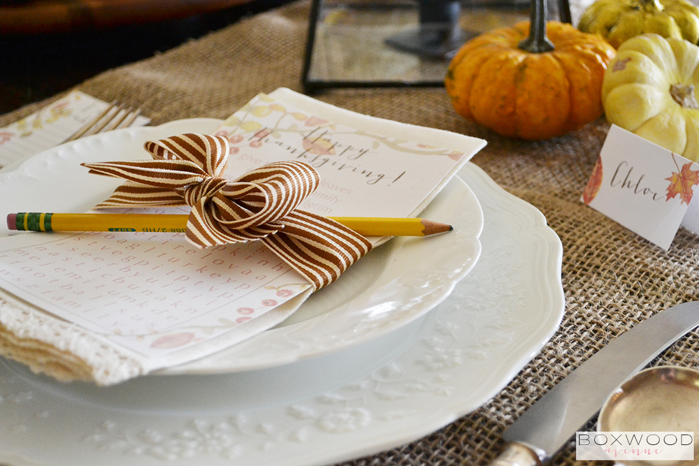 Boxwood Avenue | Thanksgiving Tablescape