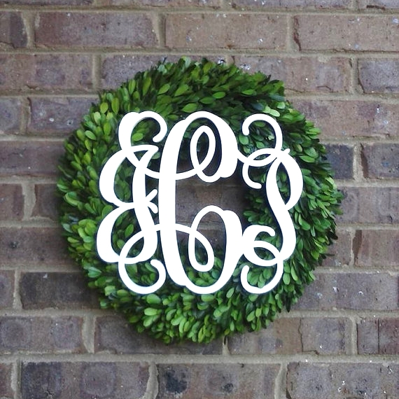 Monogrammed Boxwood Wreath | Simply Stunning Home on Boxwood Avenue