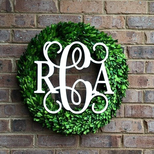 Monogrammed Boxwood Wreath | Simply Stunning Home on Boxwood venue