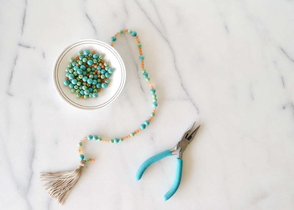 Excellent DIY Beaded Tassel Necklace — Boxwood Avenue SF58