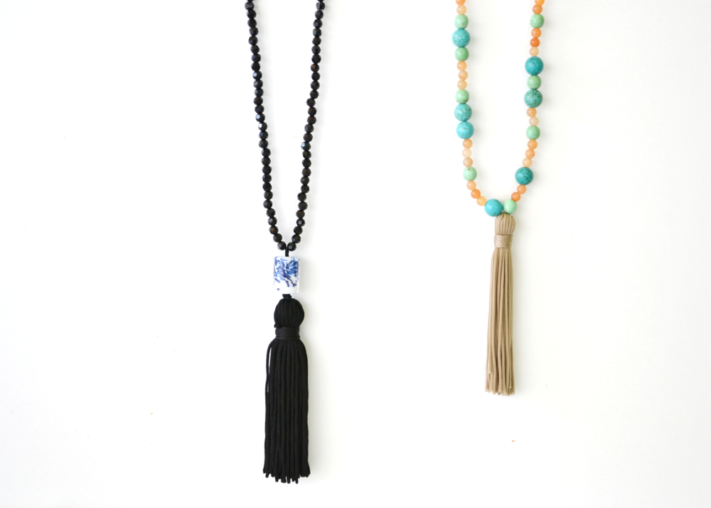 DIY Beaded Tassel Necklace | Boxwood Avenue