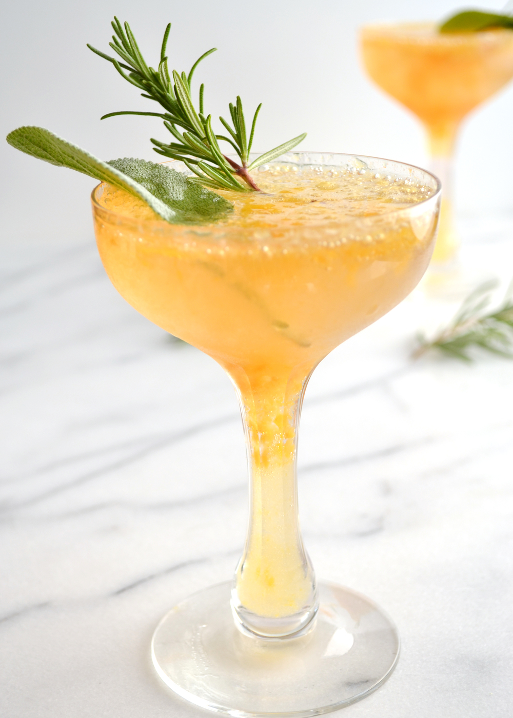 Rosemary Sage & Peach Cocktail | Boxwood Avenue
