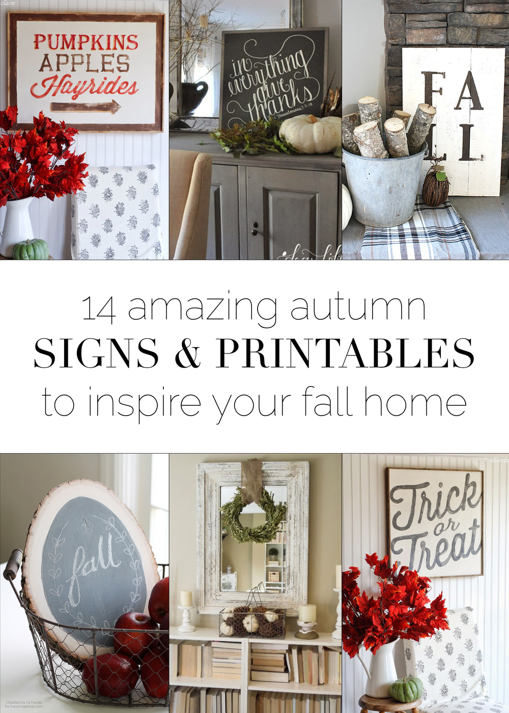 14 Amazing autumn signs & printables to inspire your fall home! | Boxwood Avenue