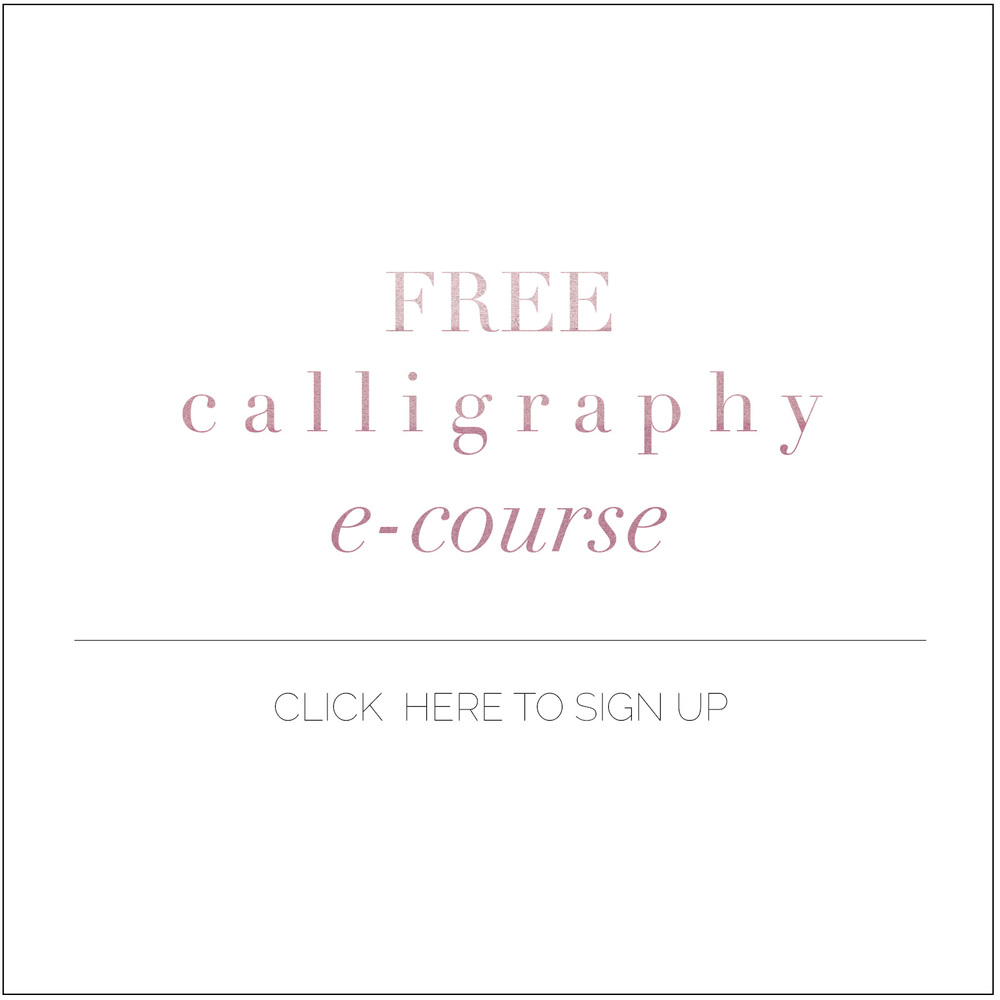 A completely free course for getting started on calligraphy from boxwoodavenue.com