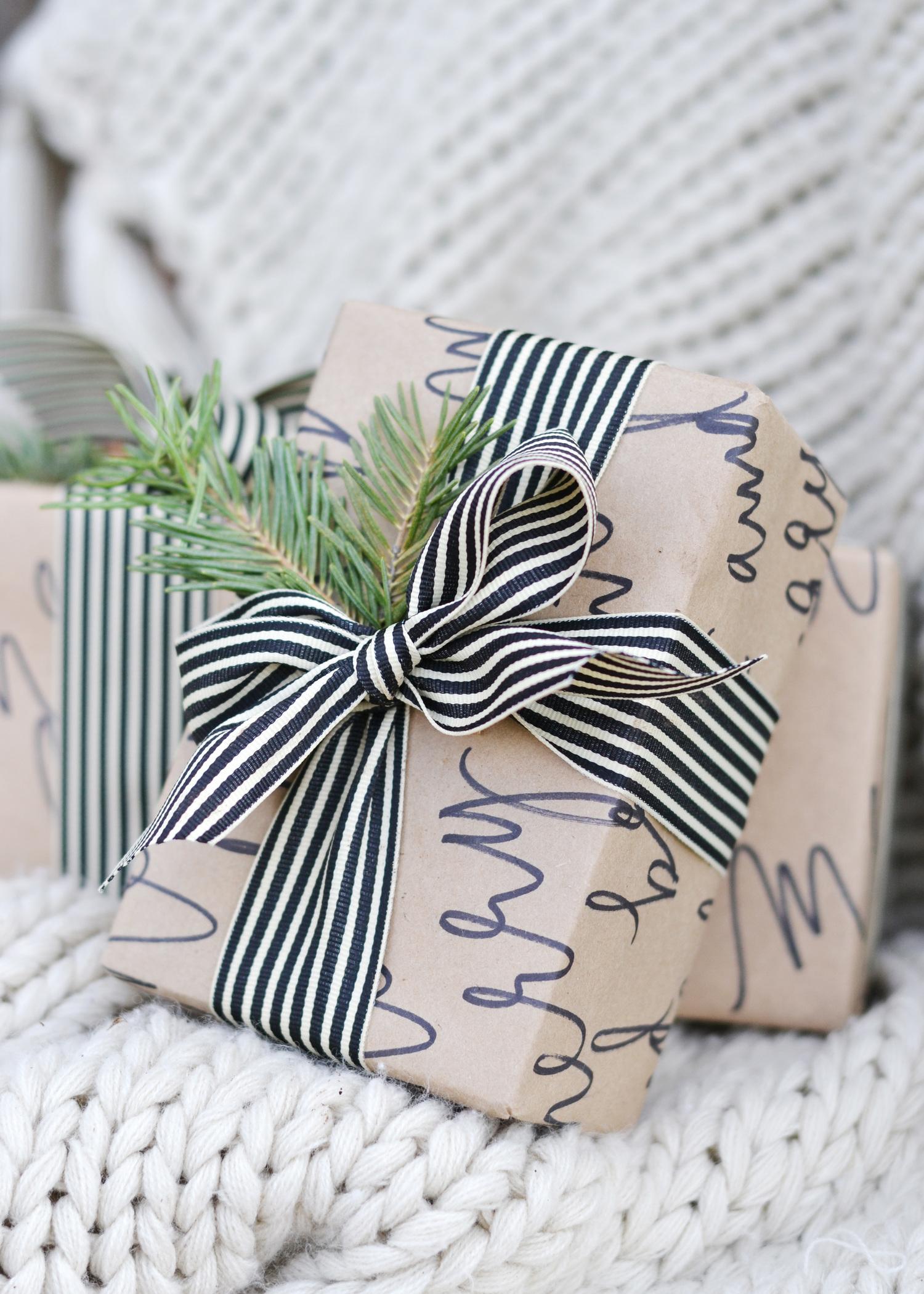 Diy Calligraphy Wrapping Paper Boxwood Avenue