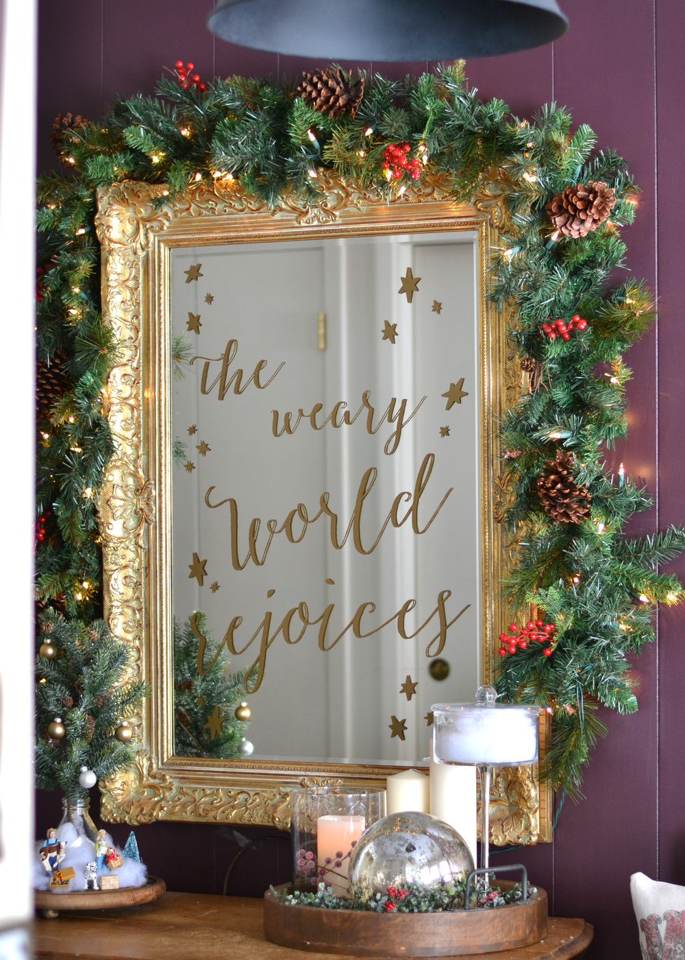 Diy Cricut Vinyl Christmas Sign Boxwood Avenue