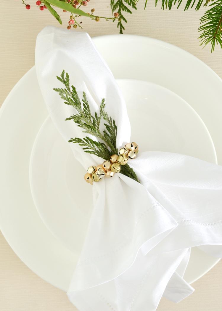 Diy Jingle Bell Napkin Ring Boxwood Avenue
