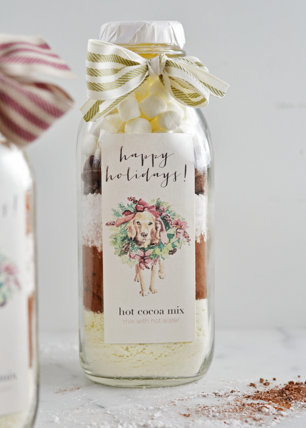 Cute label for hot cocoa in a jar! DIY Christmas gift from boxwoodavenue.com
