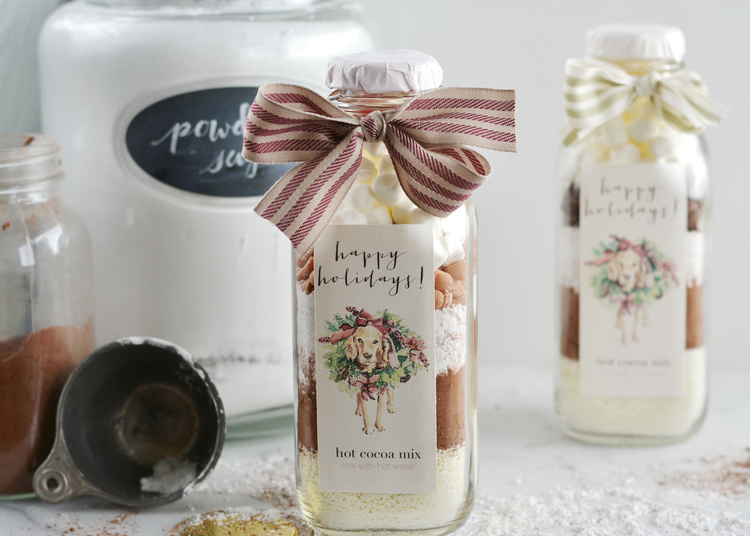 cute label for hot cocoa in a jar diy christmas gift from boxwoodavenuecom