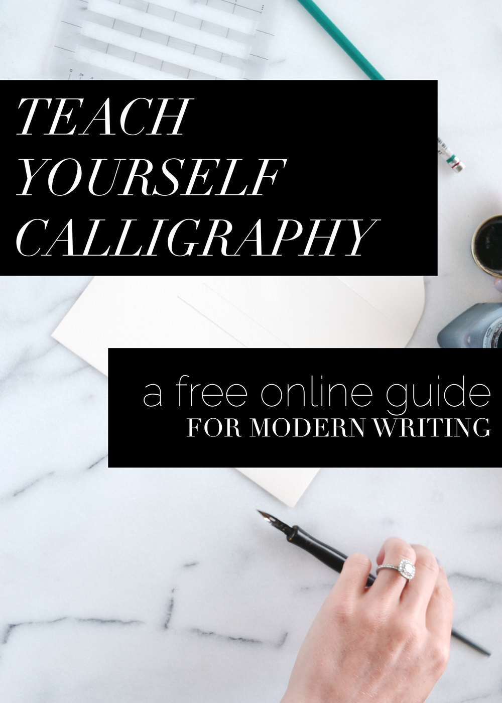 free calligraphy course from boxwoodavenue.com