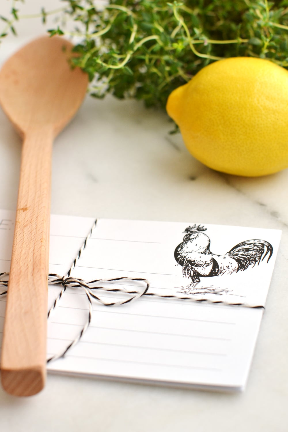 Free rooster recipe card from - free gift idea! Boxwood Avenue