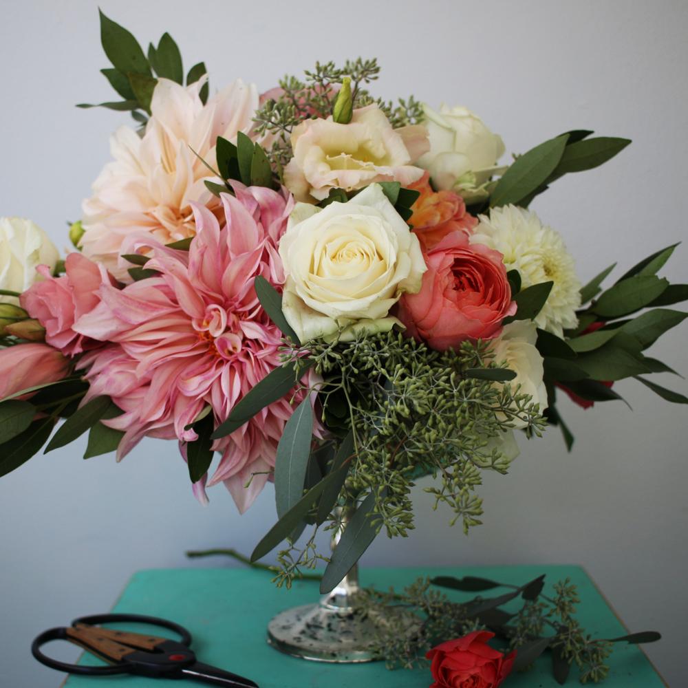 DIY Floral Arrangement by Pretty Lovely Studios