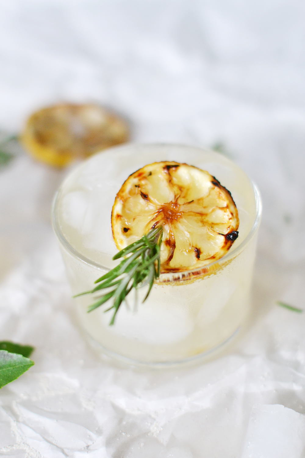 The sugar on the lemon crystalizes on the BBQ - perfect summer cocktail! boxwoodavenue.com #toastingfromafar