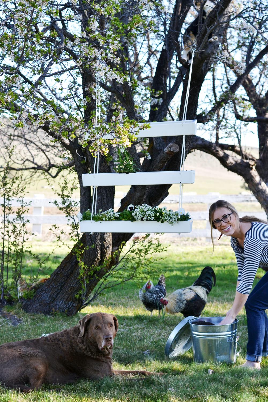 DIY Hanging Gutter Planter | boxwoodavenue.com