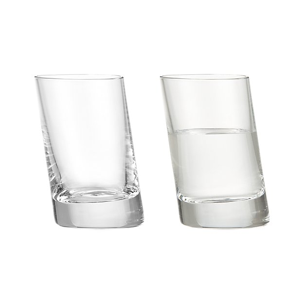 Slanted Shot Glass from Crate & Barrel