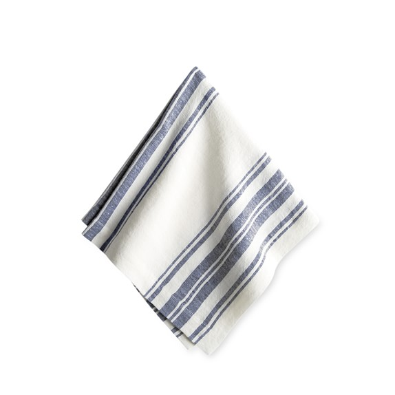 Blue & White French Striped Napkin from W-S