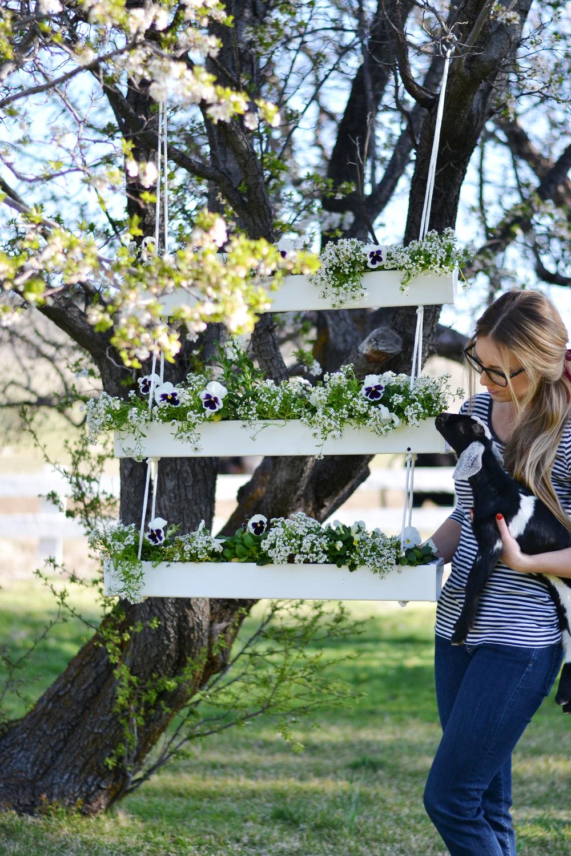 Make a DIY hanging gutter planter for under $20 | boxwoodavenue.com