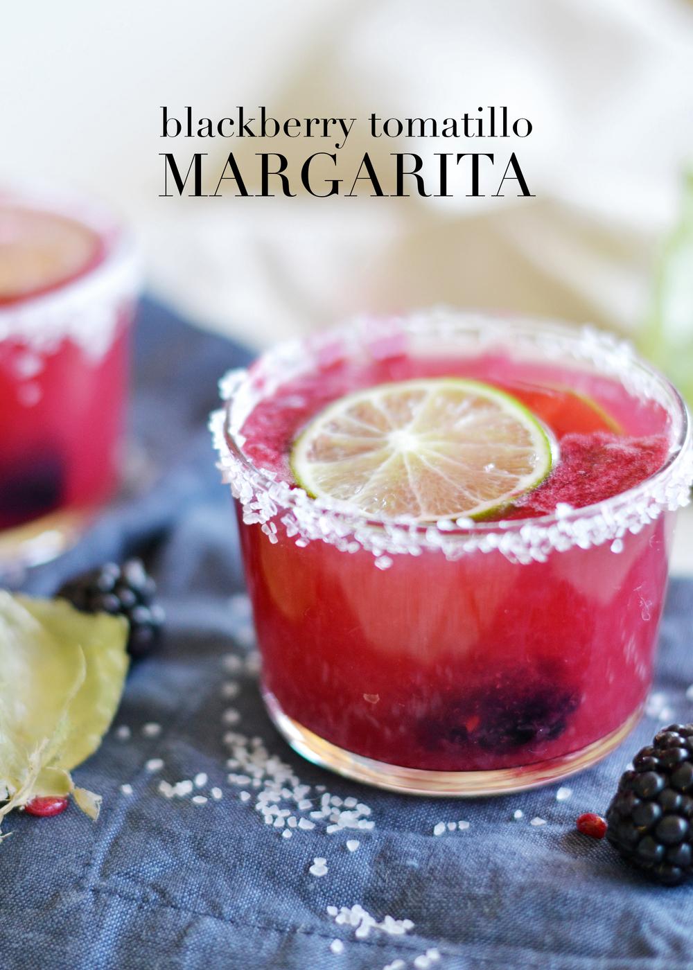 A unique margarita // Tomatillo preserves make this margarita savory! boxwoodavenue.com
