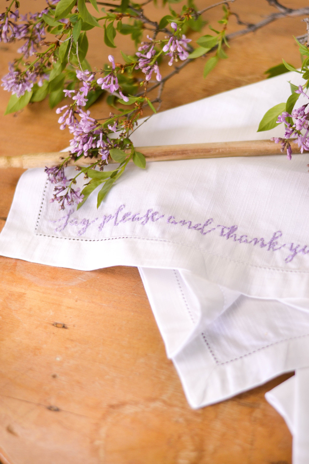 How to embroider cursive handwriting diy mother s day