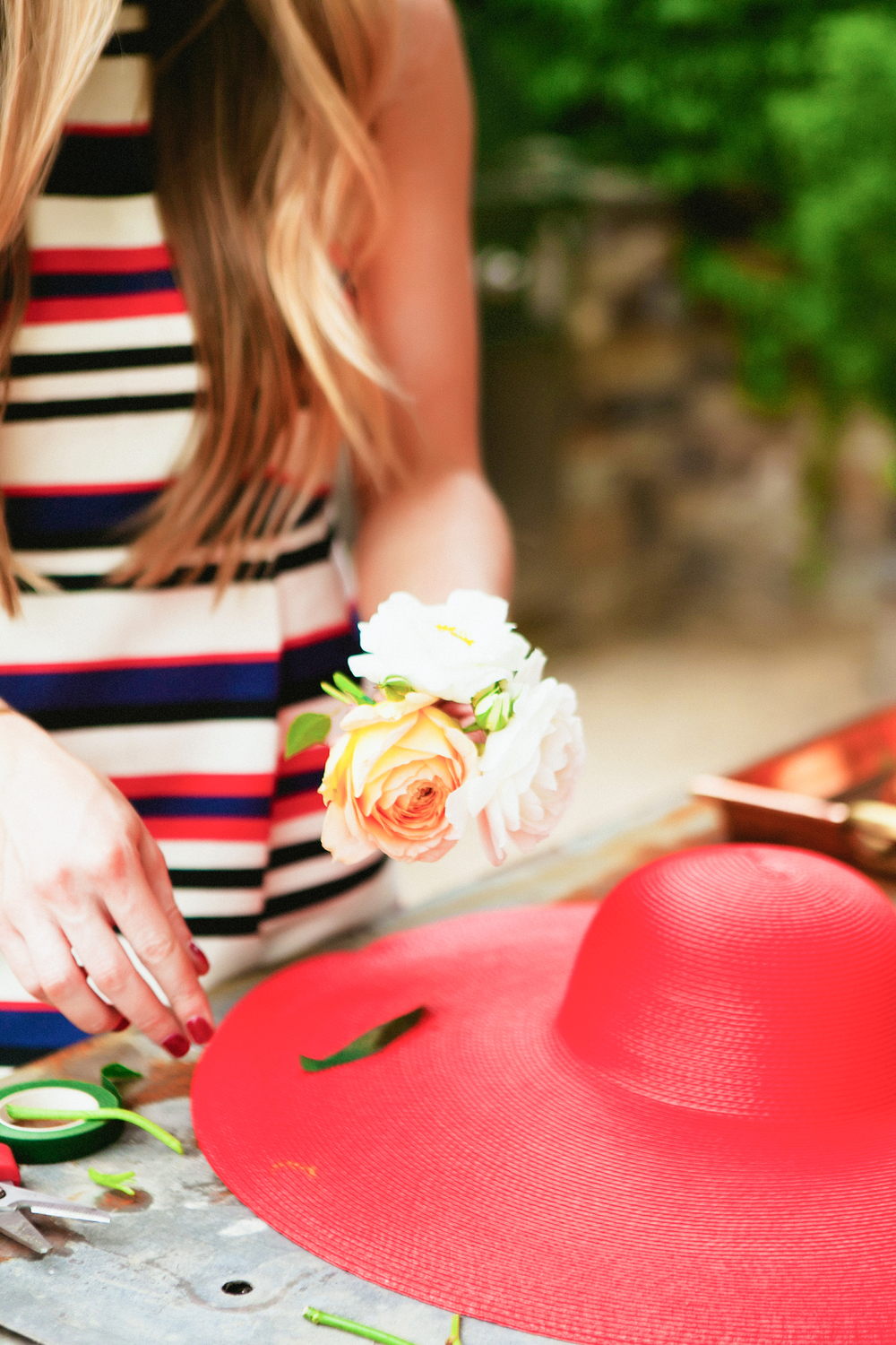 Fun Derby Day idea - DIY floral crowns from boxwoodavenue.com [milou + olin photography]