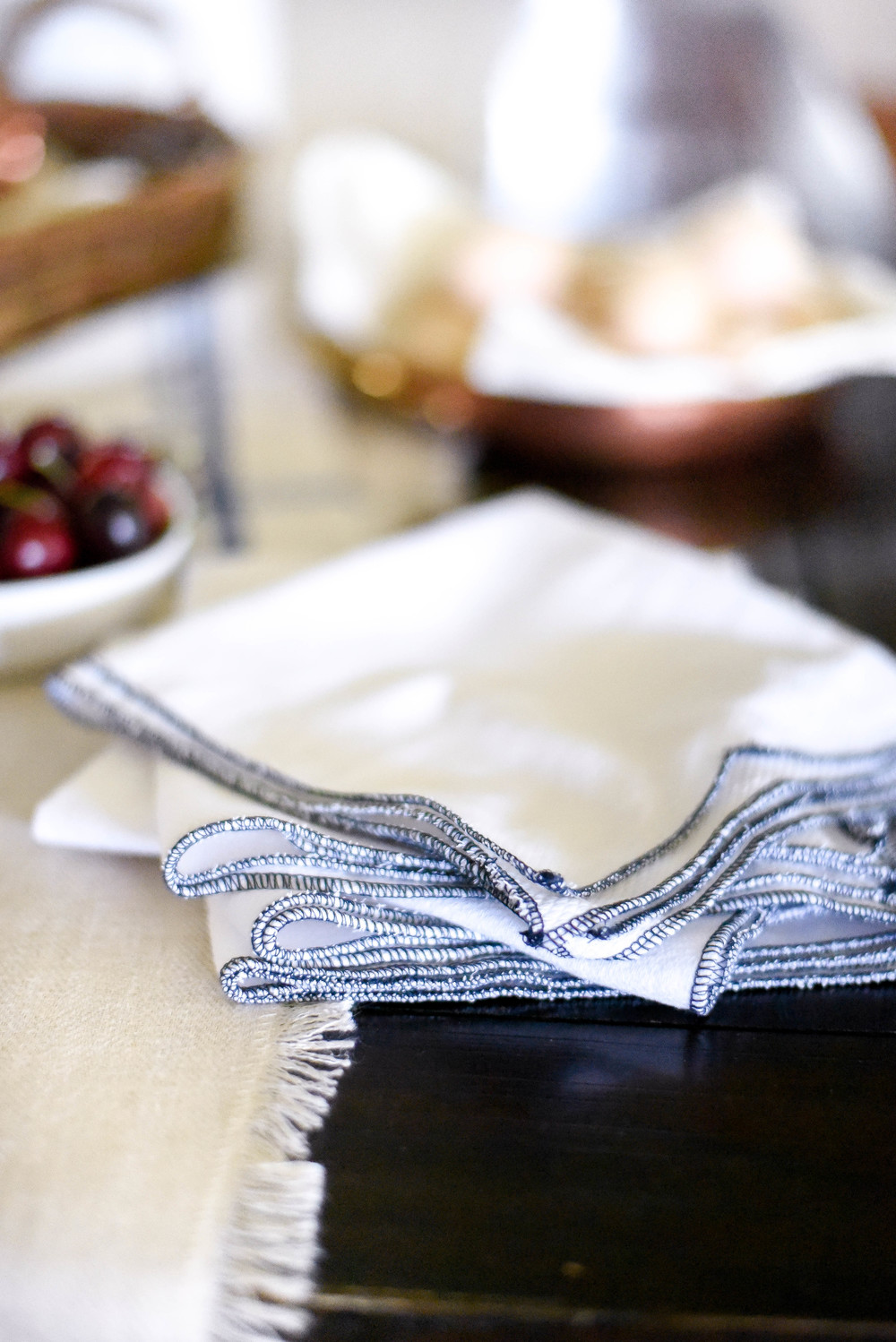 10 minute sewing project - use your serger to make paperless paper towels from boxwoodavenue.com | Rachel L'Antigua Photography